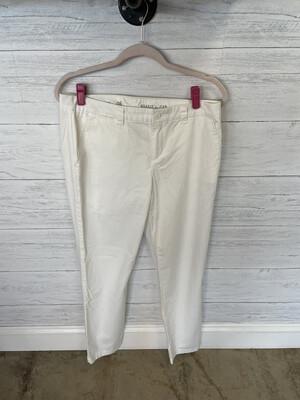 Gap White Khaki Straight Leg Pants - Size 6