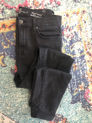 7 For All Mankind Black High Waist Jeans - Size 28