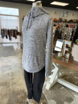 Athleta Light Heathered Grey Pullover Hoodie - XS