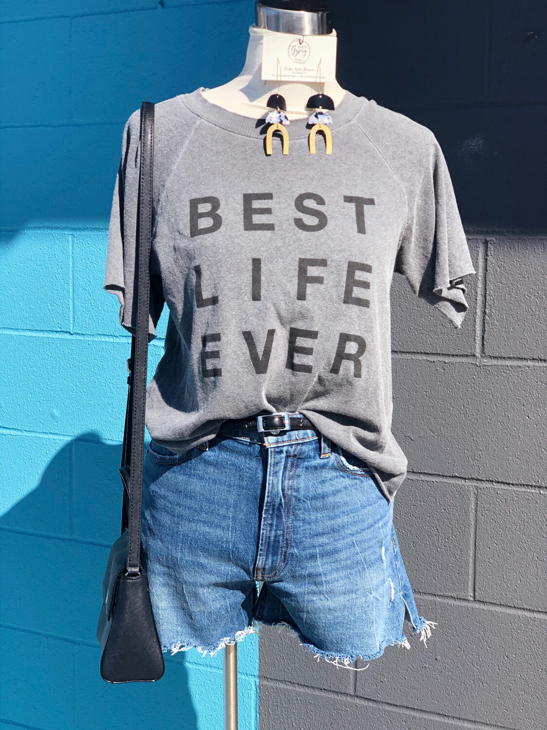 good hYOUman Grey Best Life Ever Graphic Tee - XS