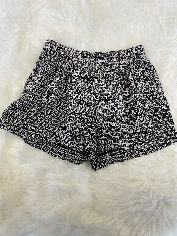 H&M Black & White Aztec Pattern Shorts - Size 12