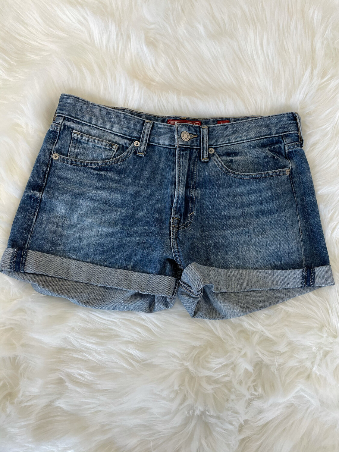 Lucky Brand Rolled Up Denim Shorts - Size 26