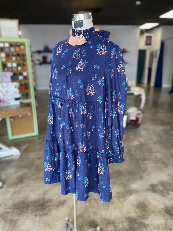 Free People Blue Floral Dress - M