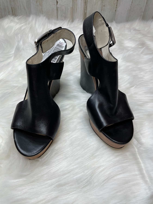 Michael Kors Black Sandal Wedges - Size 7.5