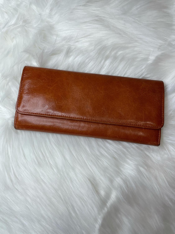 Hobo Burnt Orange Leather Wallet