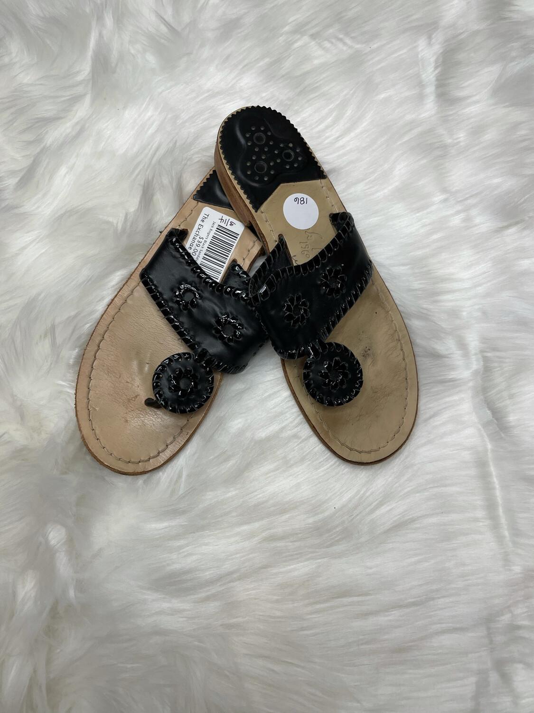 Jack Rogers Black Sandals - Size 7