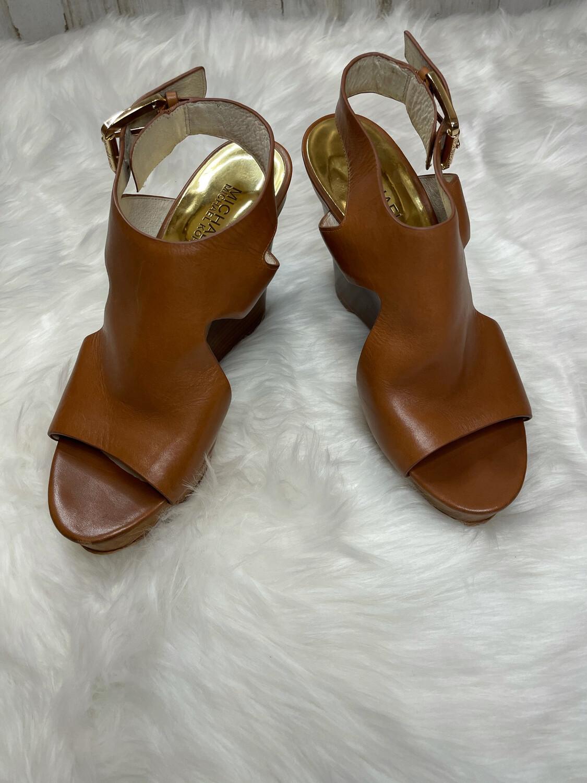 Michael Kors Brown Sandal Wedges - Size 7.5