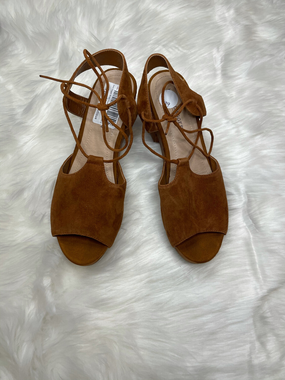 Kelsi Dagger Brown Suede Lace Up Clogs - Size 9