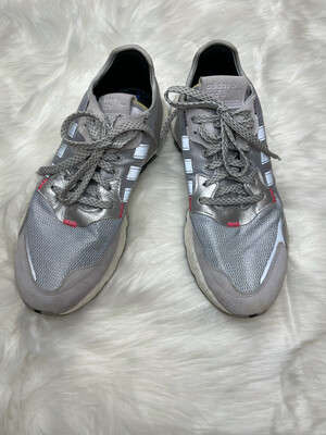Adidas Silver Metallic Athletic Shoes - Size 9