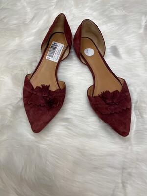J. Crew Burgundy Tassel Loafers - Size 9