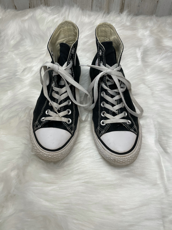 Converse Black High Top All Stars - Size 9