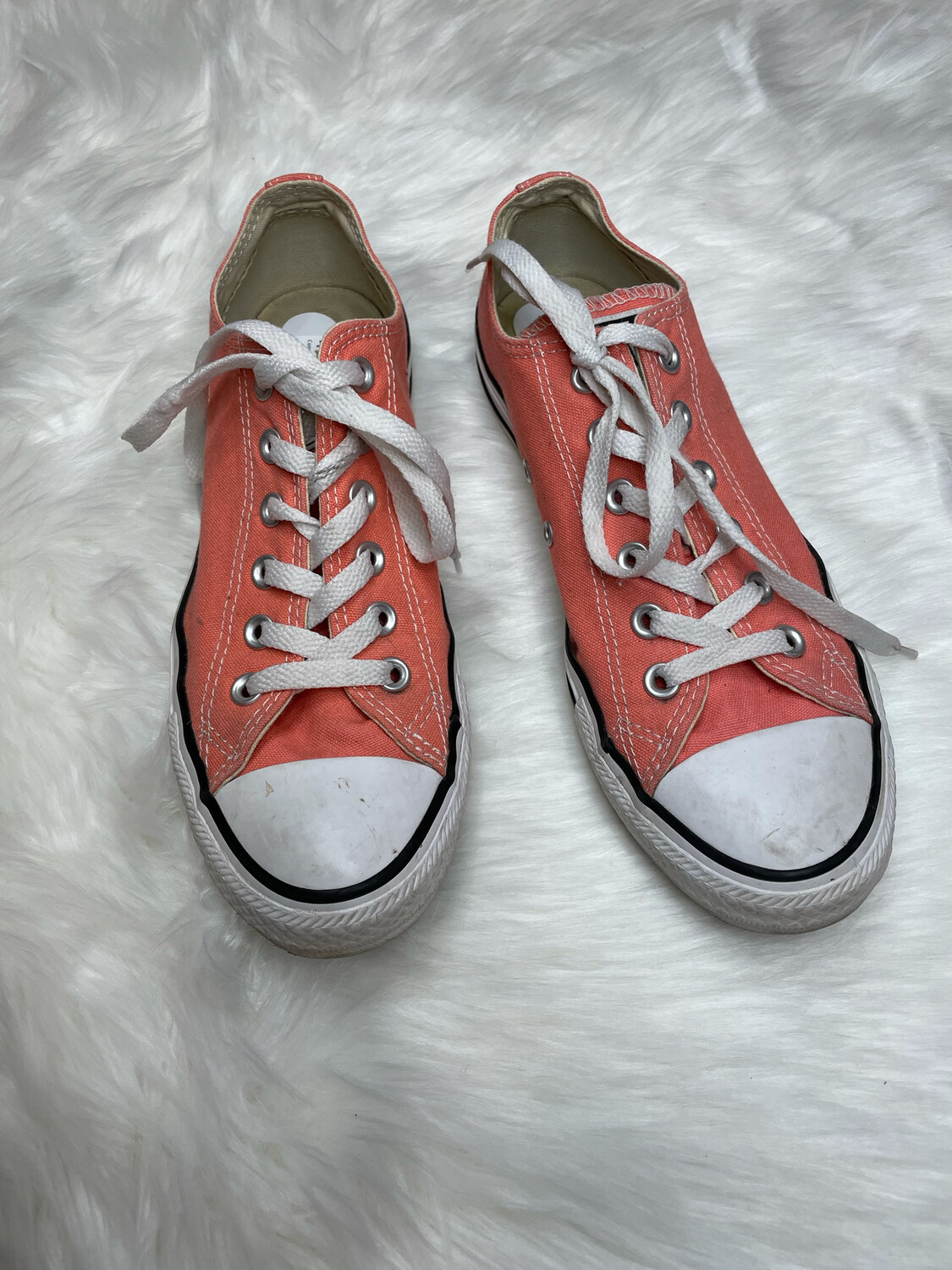 Converse Pink Lace Up Low Top All Stars - Size 9