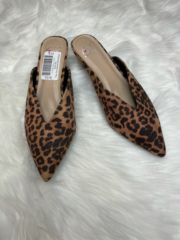 D Leopard Mules - Size 8