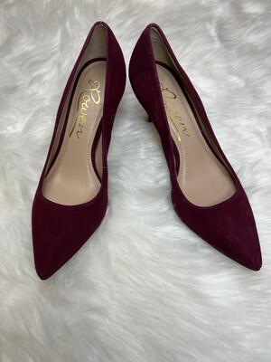 Rowen Plum Suede Heels - Size 8.5