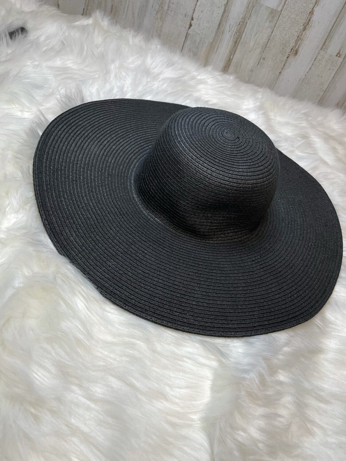 J. Crew Black Floppy Hat