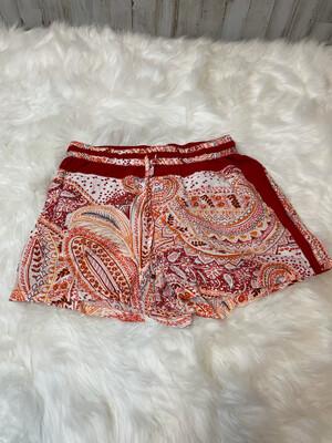 Hei Hei Red/Orange Paisley Drawstring Shorts - S