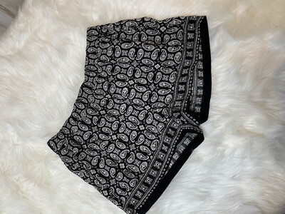 Madewell Black & White Patterned Pull On Shorts - M