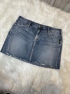 Silver Jeans Denim Raw Hem Skirt - Size 8