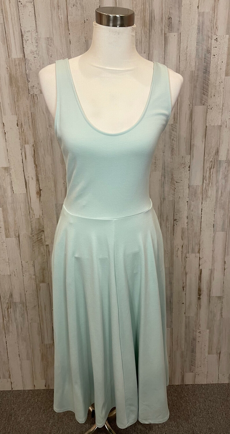 Leith Mint Midi Tank Dress w/ Pockets - M