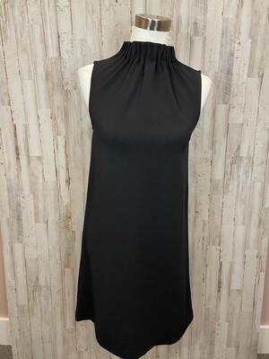 Ann Taylor Black High Neck Tank Dress - XS