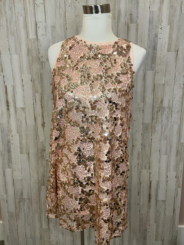 Hayden Rose Gold Sequin Tank Dress - S