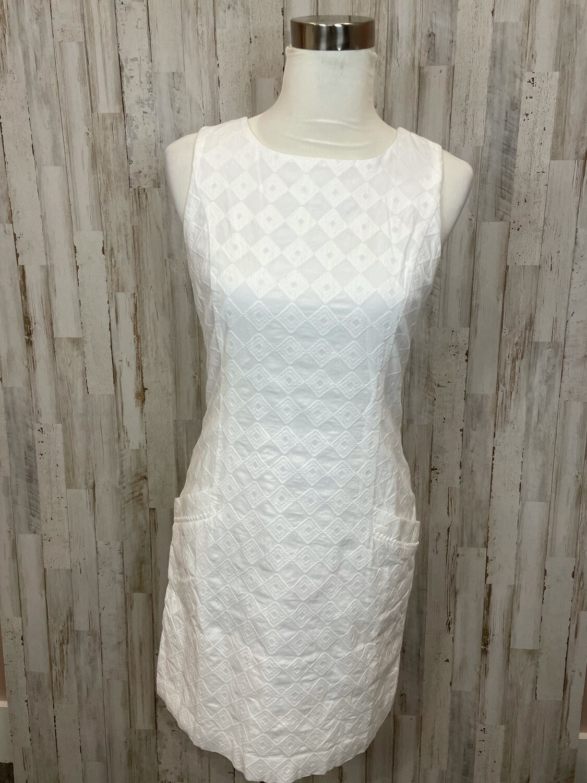 Southern Tide White Triangle Patterned Tank Dress - Size 2