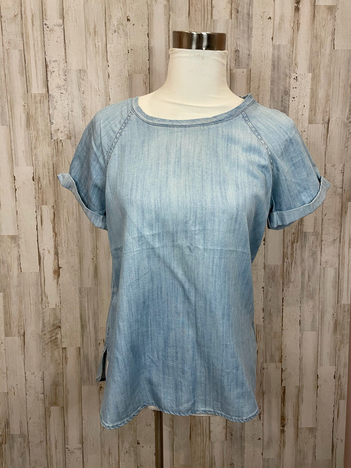 Life In Progress Chambray Top - S