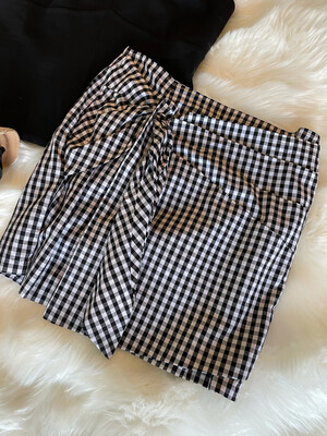 Gianni Bini Black & White Gingham Skirt - M