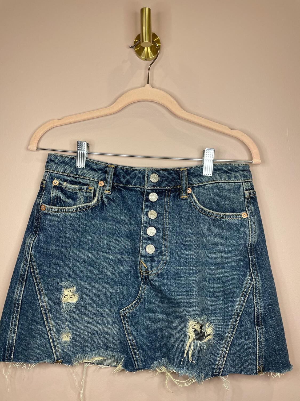 We The Free Distressed Denim Skirt - Size 28