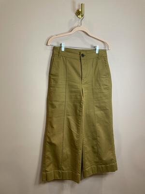 Madewell Khaki Flare Cropped Pants - Size 26