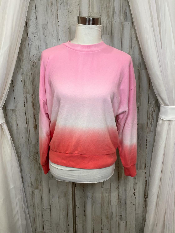 Gap Pink & White Tie Dye Sweatshirt - M