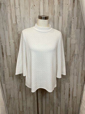 W5 White Back Button Top - L