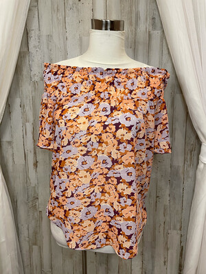 Madewell Pink & Purple Floral Top - S