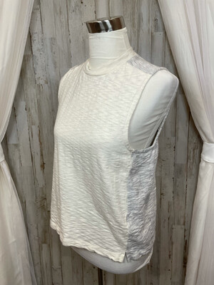 Madewell Cream & Grey Tank - L