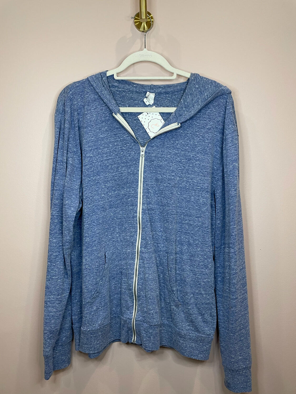 Thread Fast Blue Hooded Zip Up Jacket - L