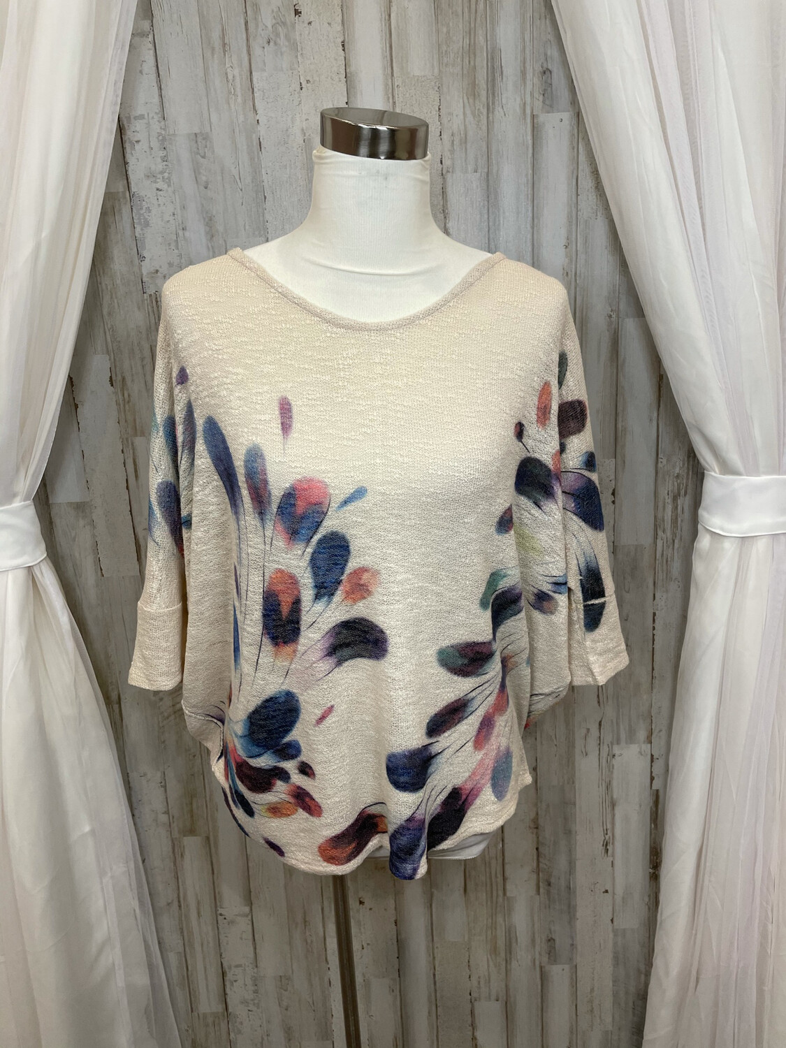 Phil Love Cream Feather Knit Sweater - S