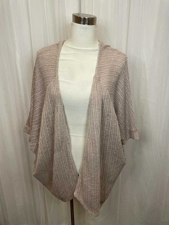 Cherish Tan Lightweight Knit Cardi - M
