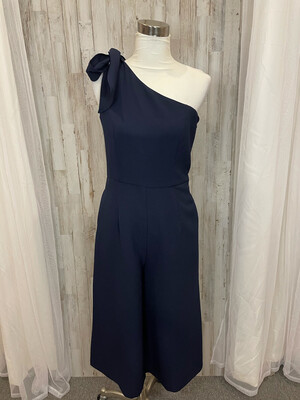 Julia Jordan Navy Dress with Tie Accent  - Size 8