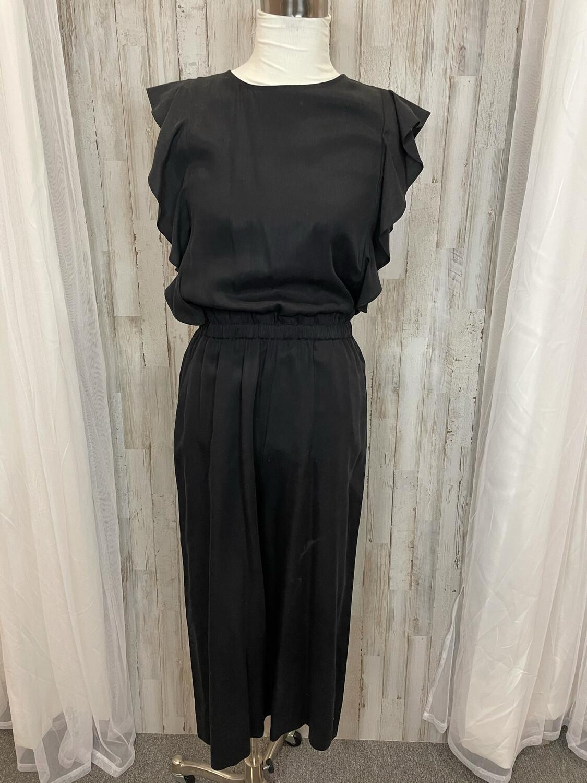 Gap Black Cropped Leg Ruffle Sleeve Jumpsuit - XS