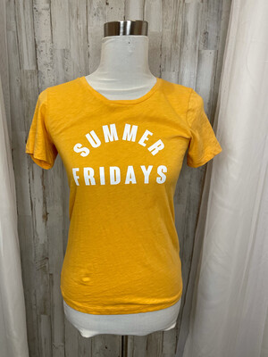 J. Crew Yellow Summer Fridays Tee - XS