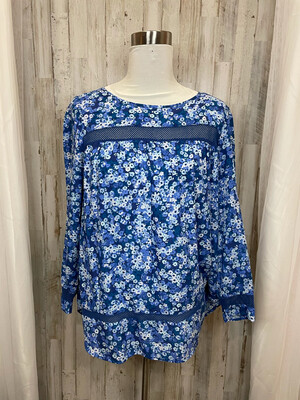 Gap Blue Floral Top - L