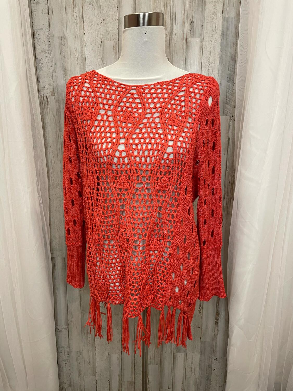 Ya Los Angeles Pink Knit Tassel Trim Sweater - S/M