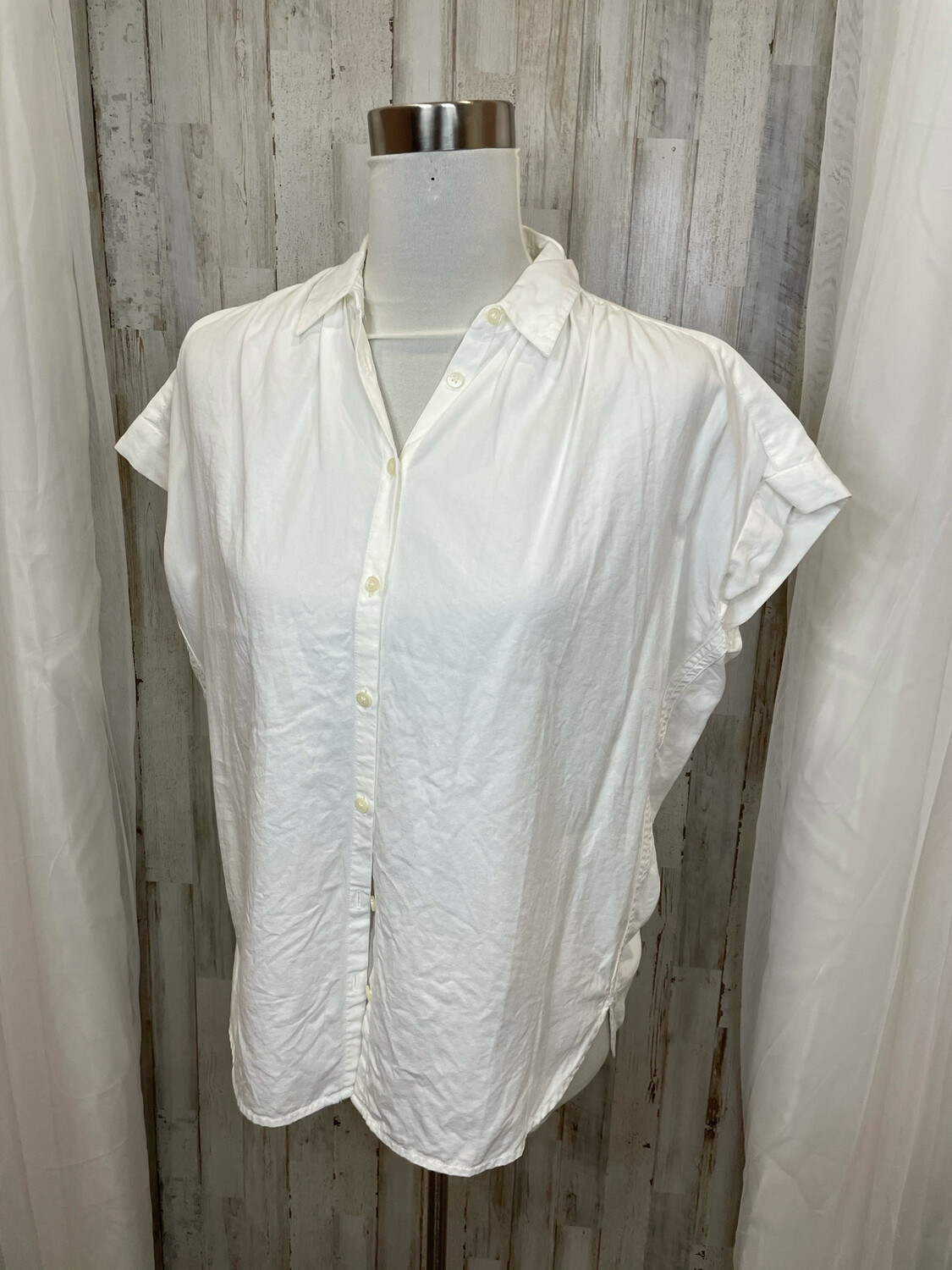 Madewell White Oversized Button Down Top - XXS