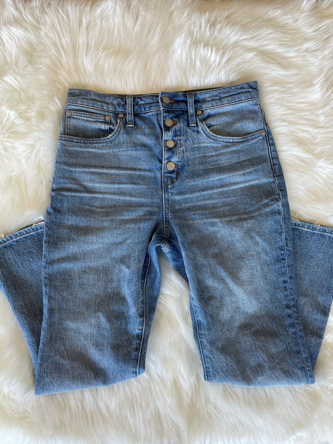 Madwell Cali Demi Boot 4 Button Jeans - Size 28