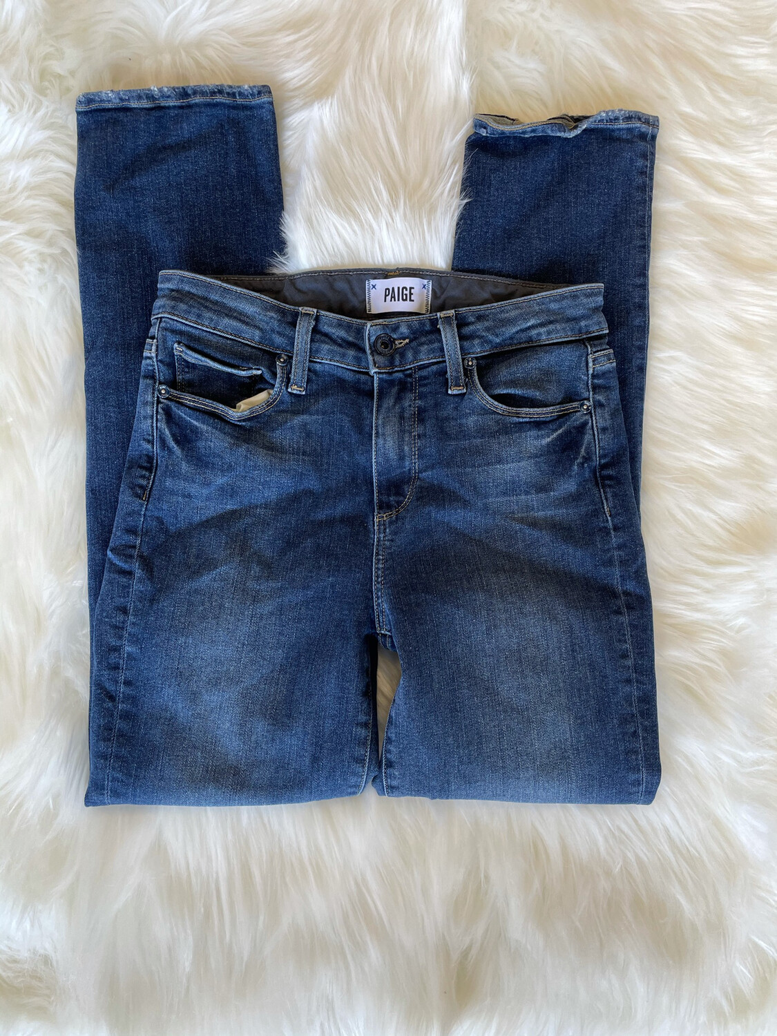 Paige Dark Jacqueline Straight Jeans - Size 26