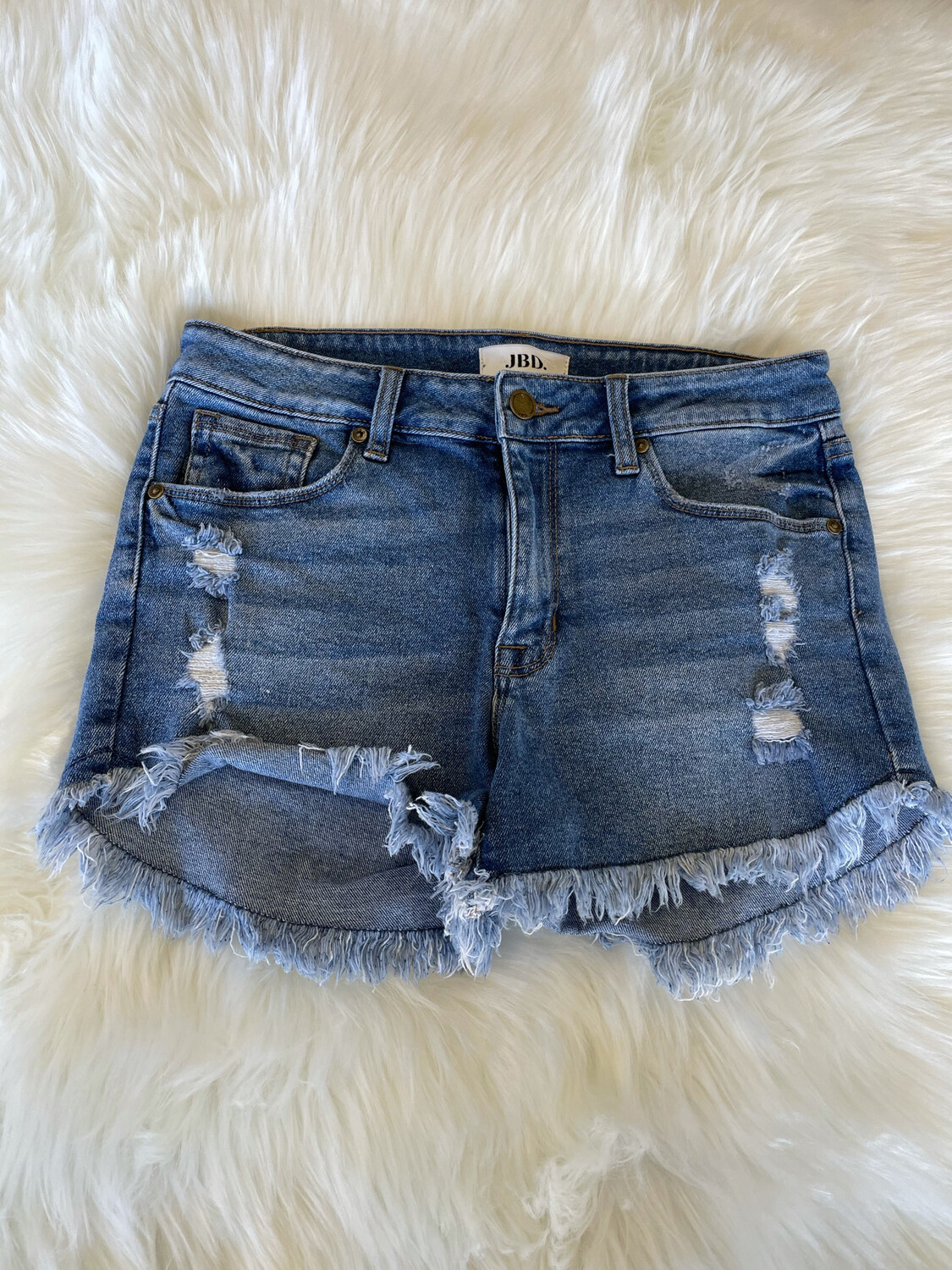 JBD Distressed Denim Shorts - M
