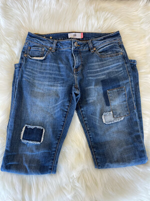 Cabi Patchwork Slim Boyfriend Jeans - Size 4