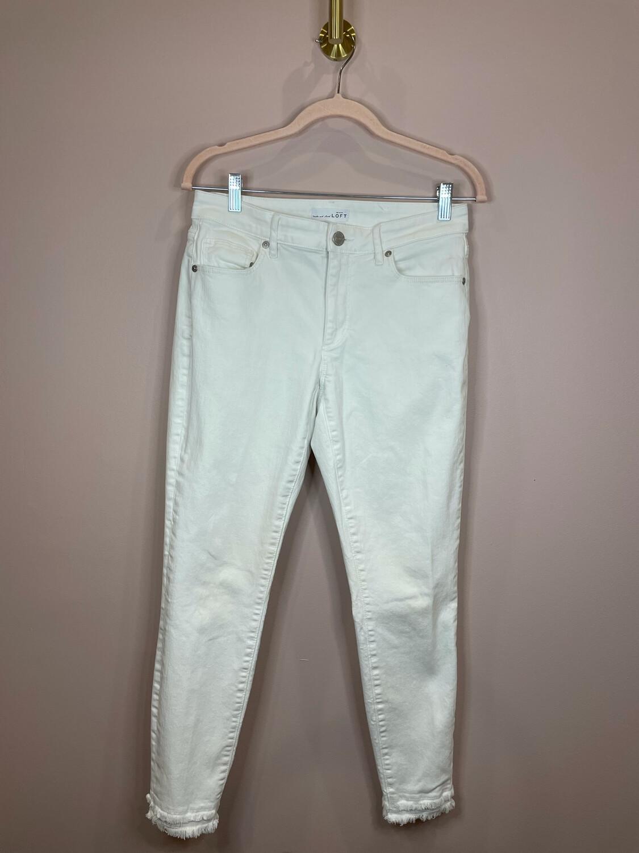 LOFT White Curvy Skinny Denim - Size 28