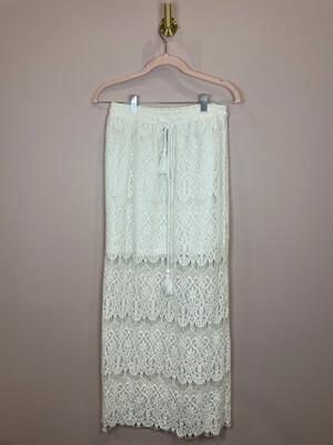 Blue Rain White Lace Skirt - S