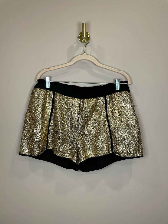 Whitney Eve Gold & Black Shorts - L